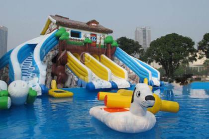 郑州充气水滑梯,专业水上充气游乐设备,值得信赖