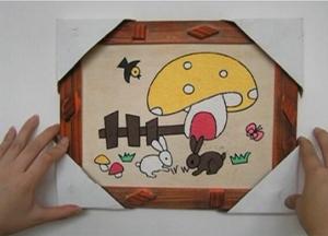 厂家批发 12寸木板画 彩泥画画板 可画金粉、丙烯、水粉