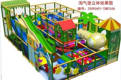 新疆乌鲁木齐室内大型淘气堡80平米效果图