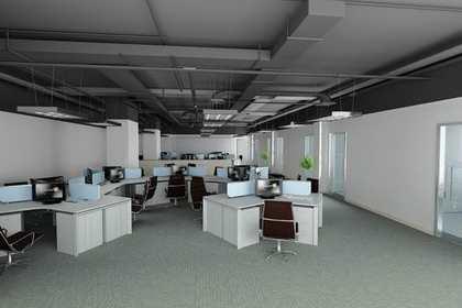 厂房办公室前台设计装修