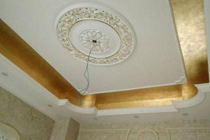 室内吊顶贴金箔工程