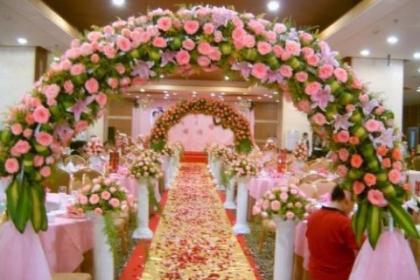 婚庆鲜花气球布置
