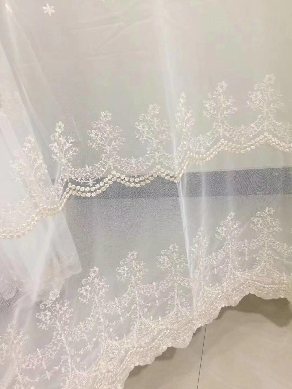 窗帘纱白麻纱批发零剪
