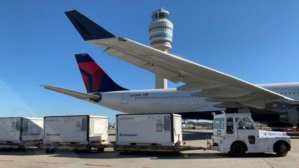 达美航空将向美国及世界各地运送COVID-19疫苗