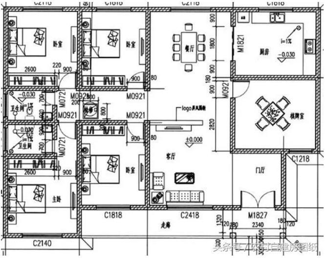 9款一层农村别墅设计图,造价15万,保你30年不过时