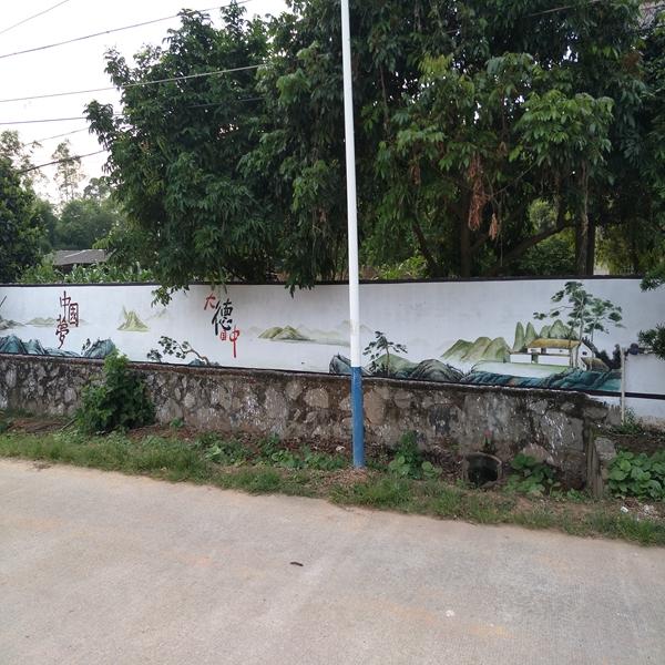 大德中国,中国梦题材乡村文化墙彩绘定制,批发,建设新农村,墙面翻新