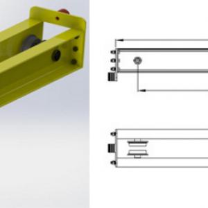 主梁连接螺栓,封头板,天然橡胶缓冲器等,主营起重机端梁,桥式单双梁