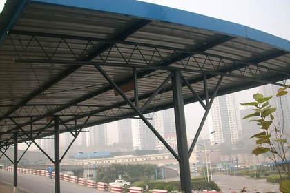 成都彩钢钢结构雨棚 停车棚制作安装