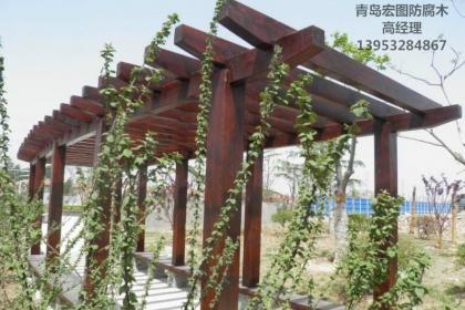 青岛防腐木菠萝格户外景观
