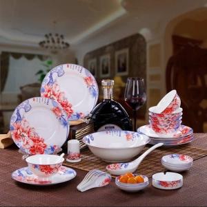 景德镇陶瓷碗盘套装订制