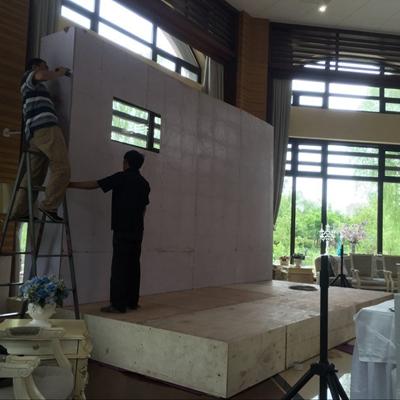 北京木质背景板制作