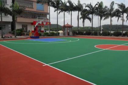 重庆塑胶球场篮球场厂家