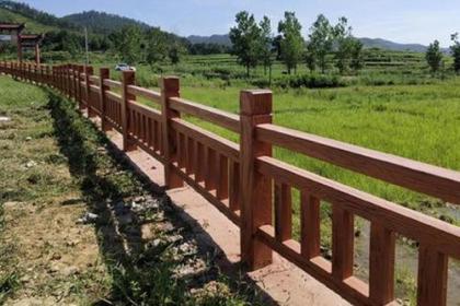 水泥仿木栏杆的质量分辨方法