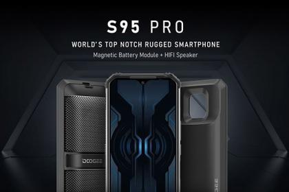 Doogee全新三防模块化手机S95 Pro:8650mAh电池