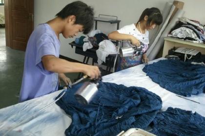 东莞洗水布服装修色