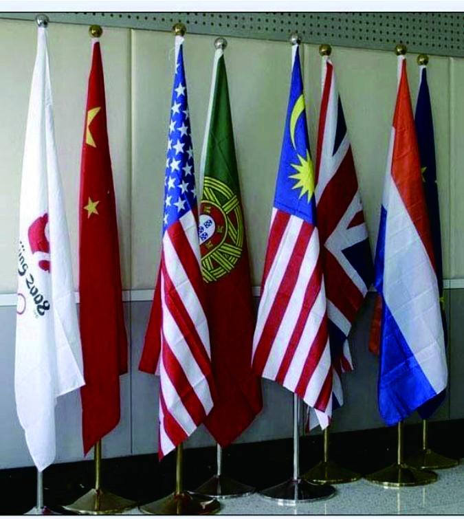 制作各种办公桌旗