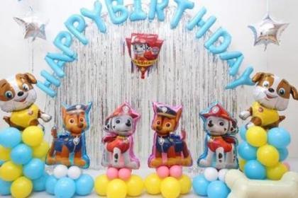 生日派对气球布置