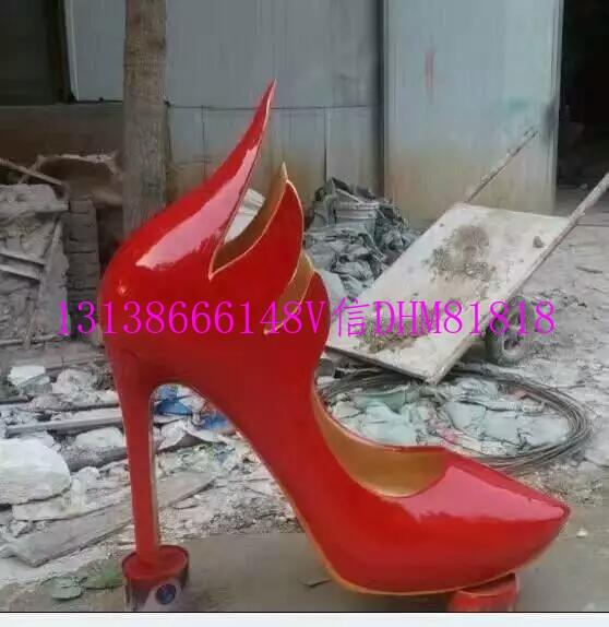 玻璃钢雕塑仿真平底鞋高跟鞋板鞋运动鞋模型 (2).jpg
